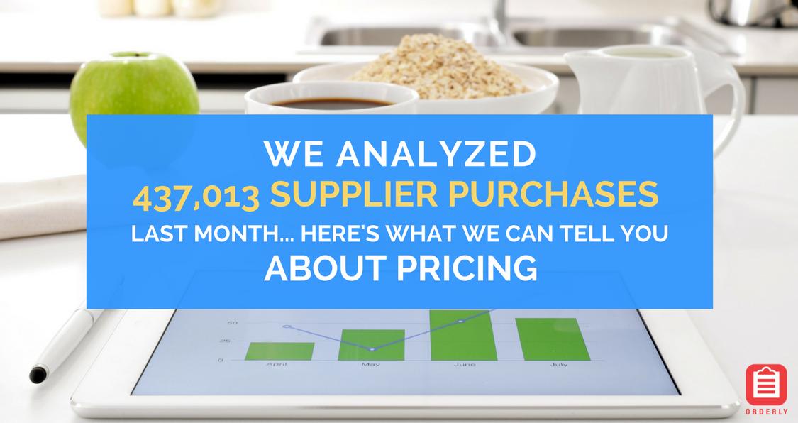 September 2017 supplier purchases